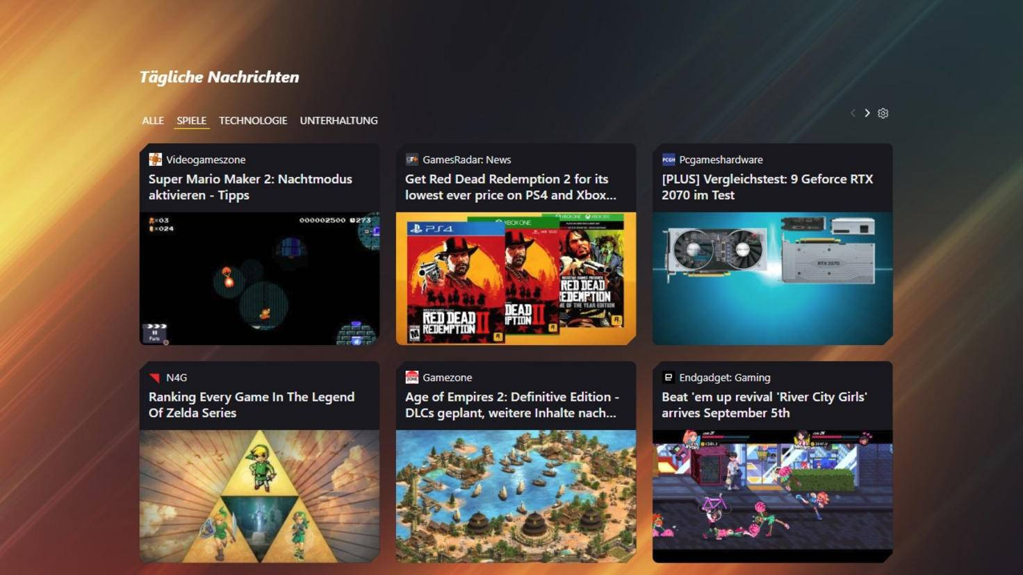 Dank Opera GX verpasst Du nie wieder wichtige Gaming-News.