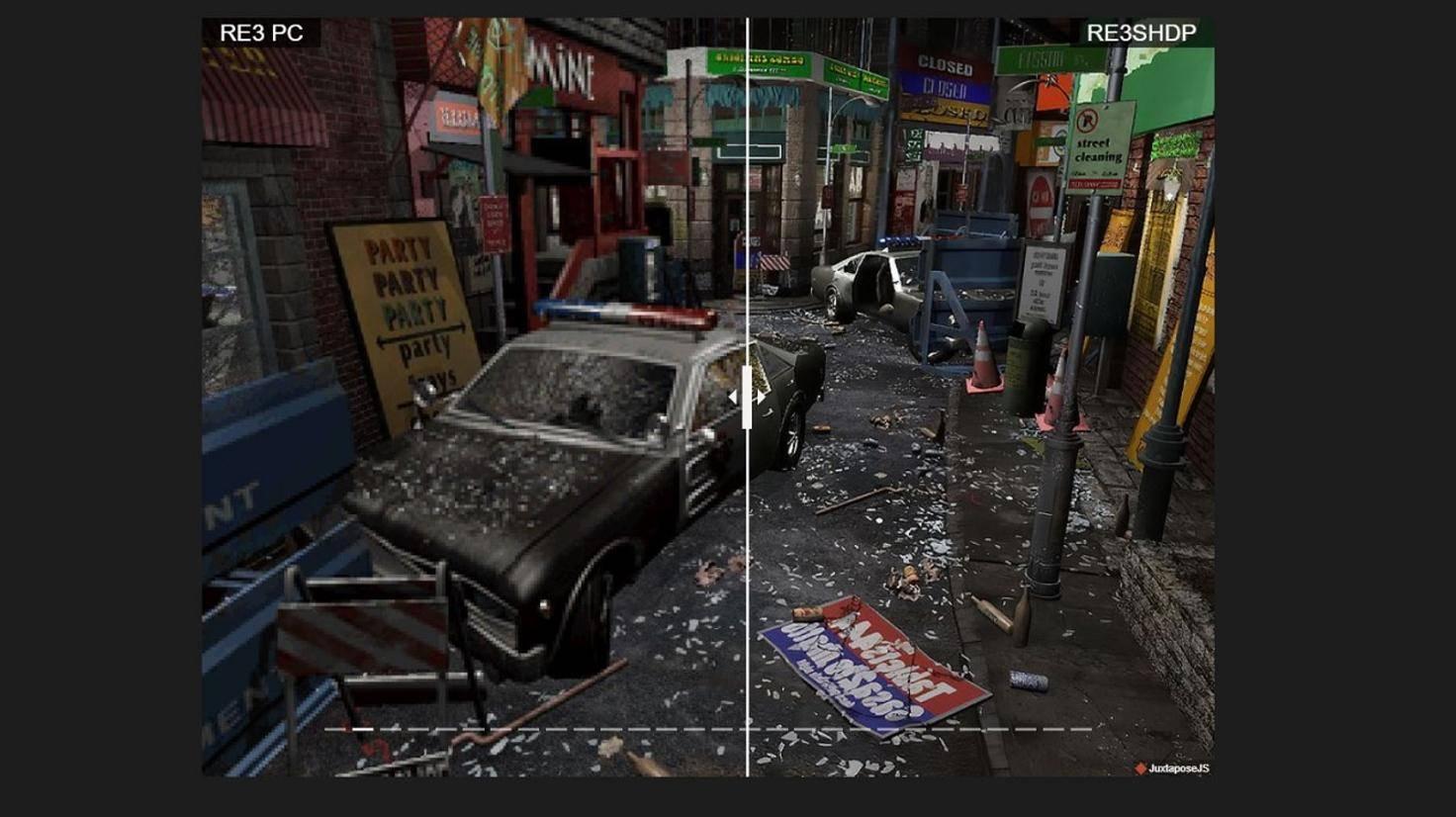 Resident Evil 3 im Vergleich zwischen Original und HD-Optik