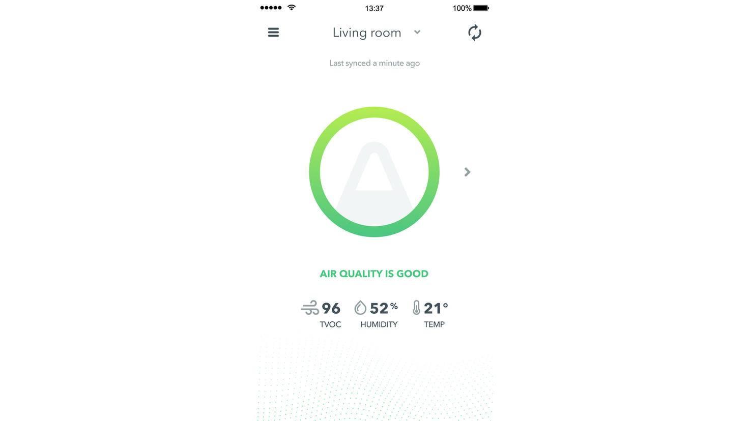 Airthings Wave Mini App Screen