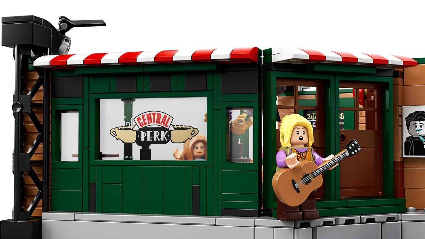 Frontansicht zum Lego Friends Central Perk Set