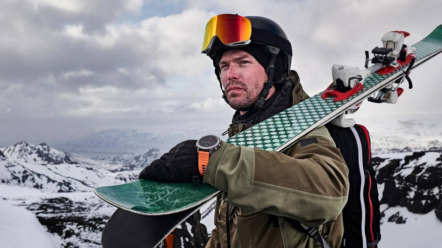 Garmin Fenix 6 Serie mann skier