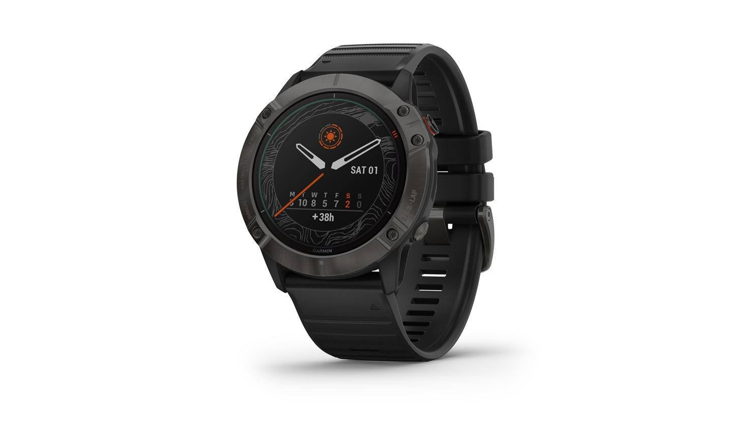 Garmin Fenix 6 pro solar schwarz display