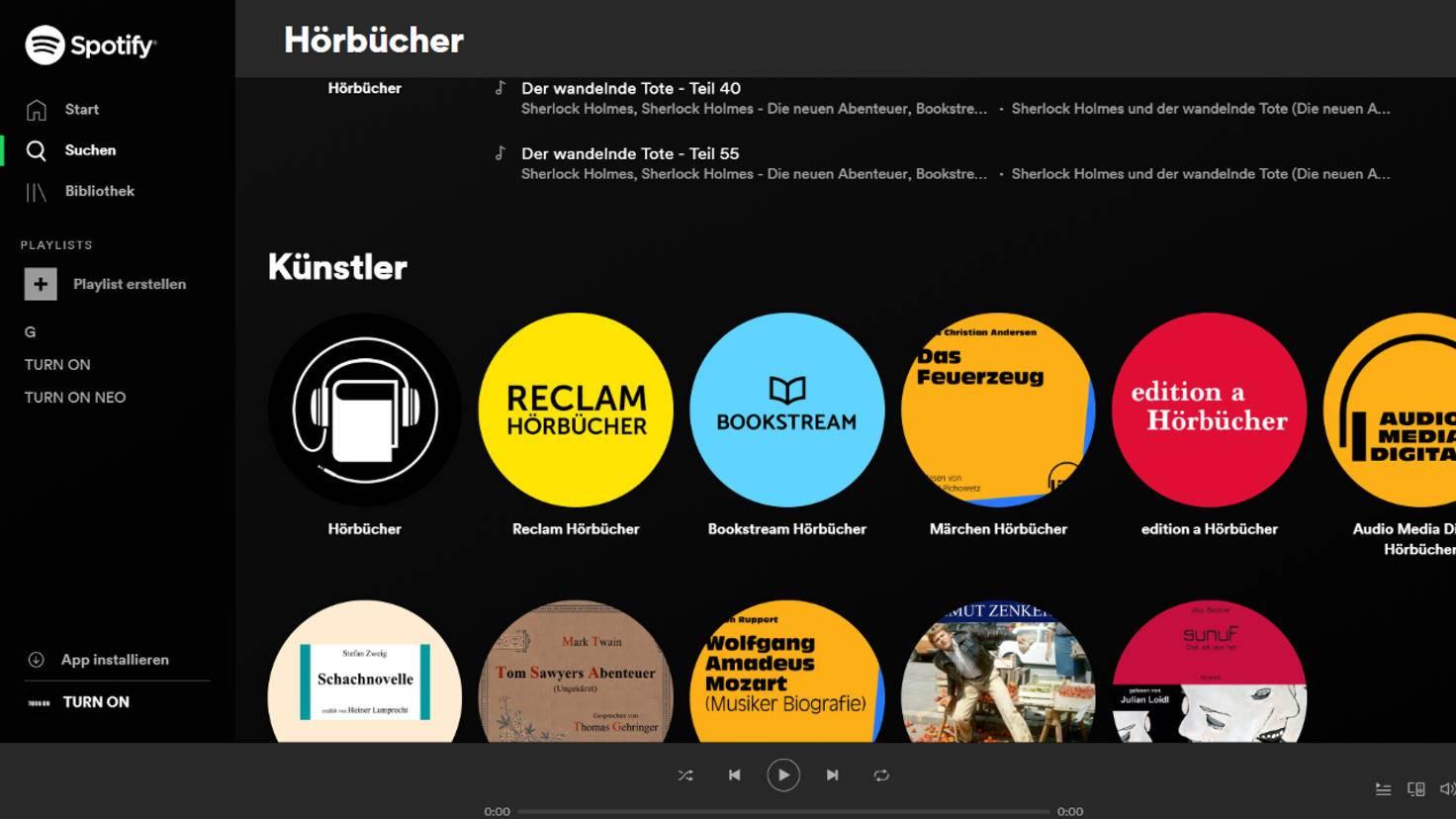 Spotify-Hörbücher