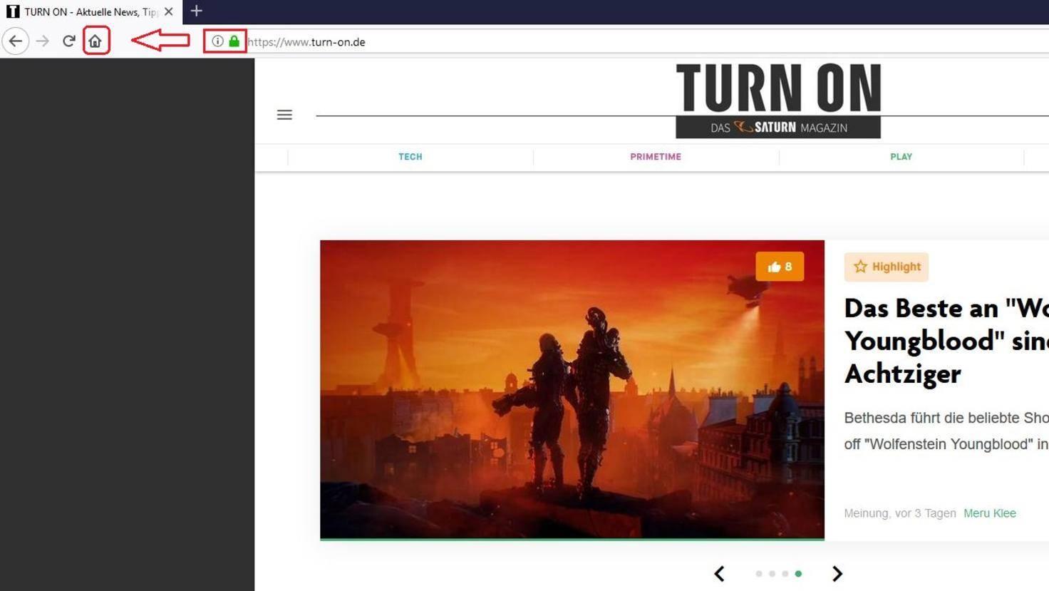 Firefox-Browser Startseite festlegen