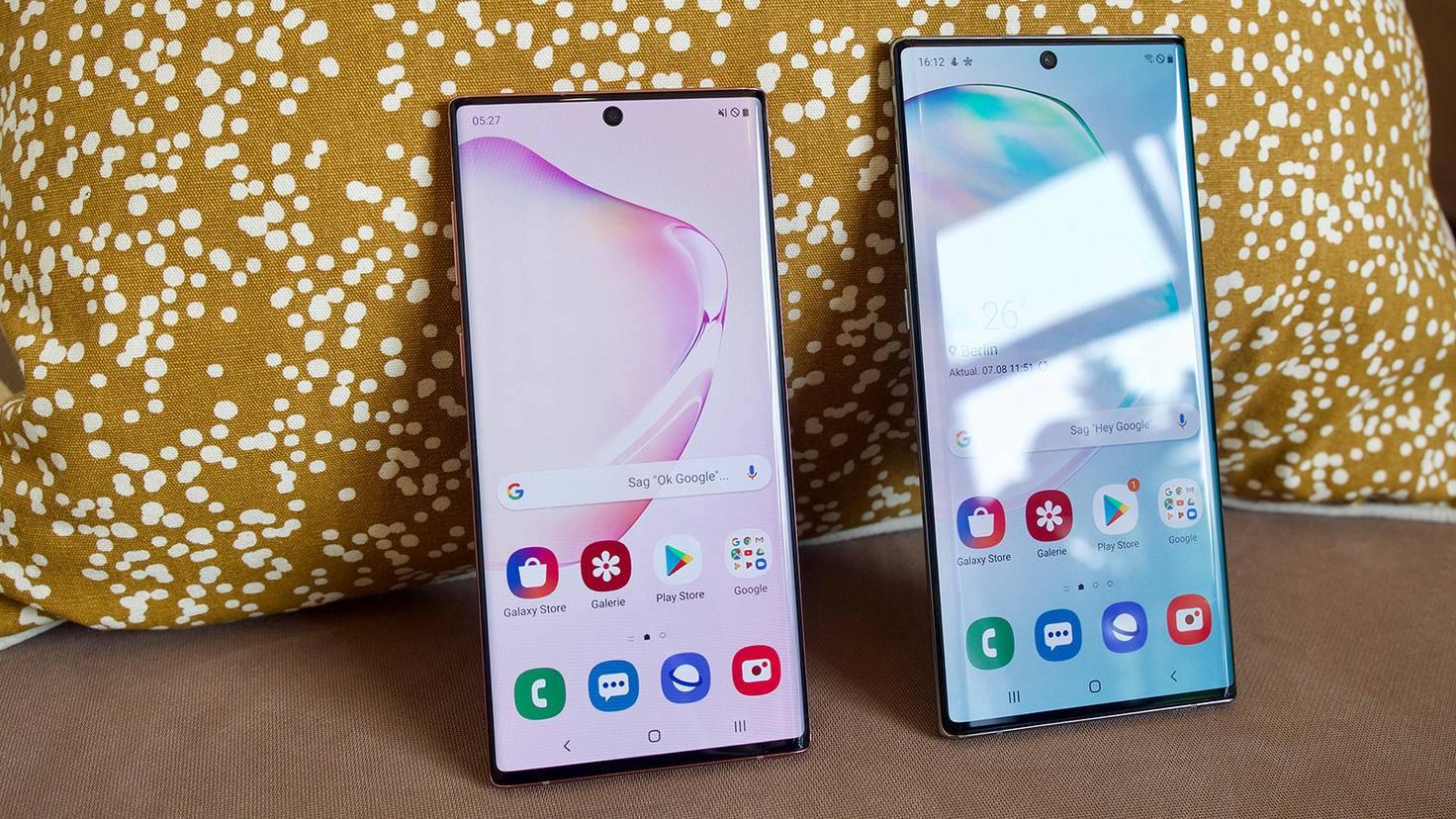Galaxy Note 10 Plus Größenvergleich