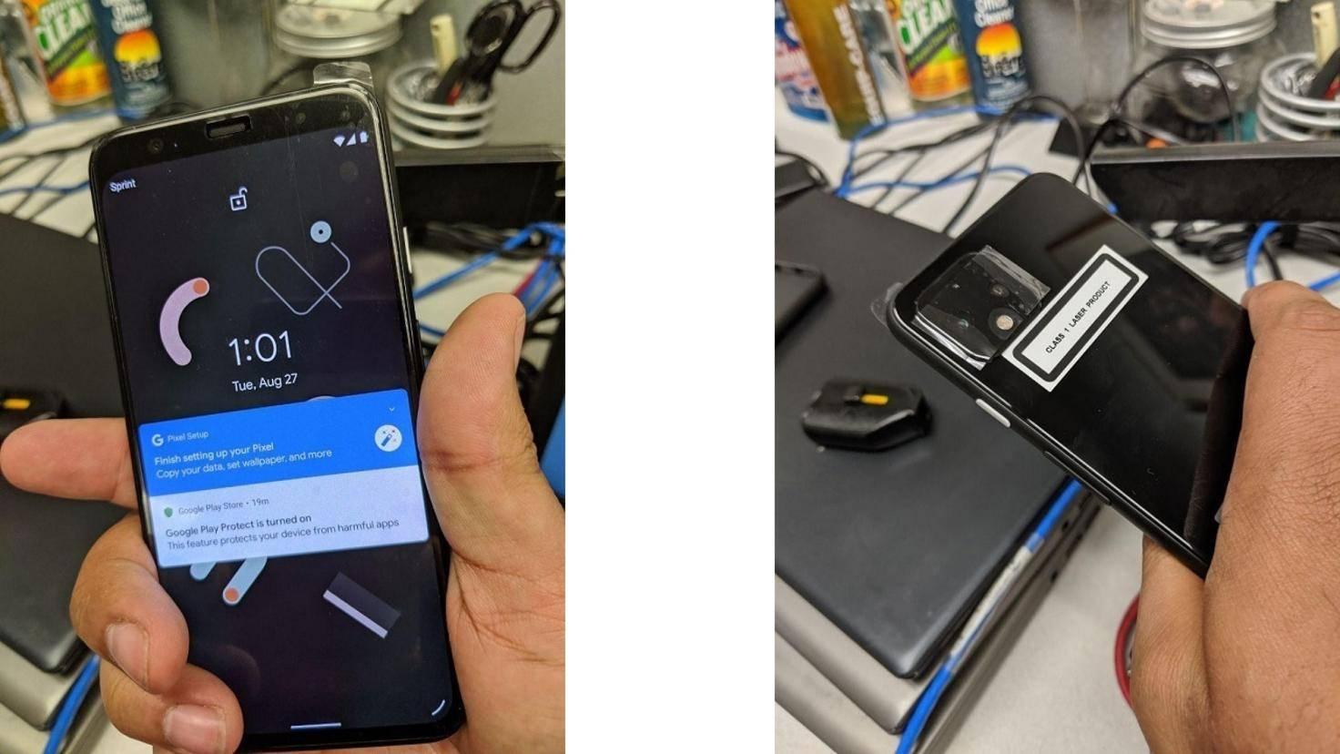 Google Pixel 4 Vorder- und Rückseite