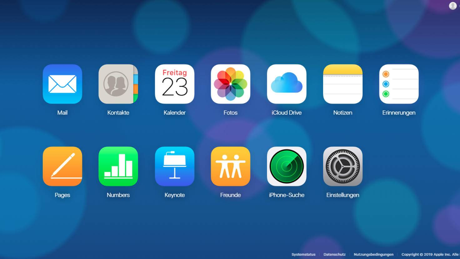 iCloud Webseite alt