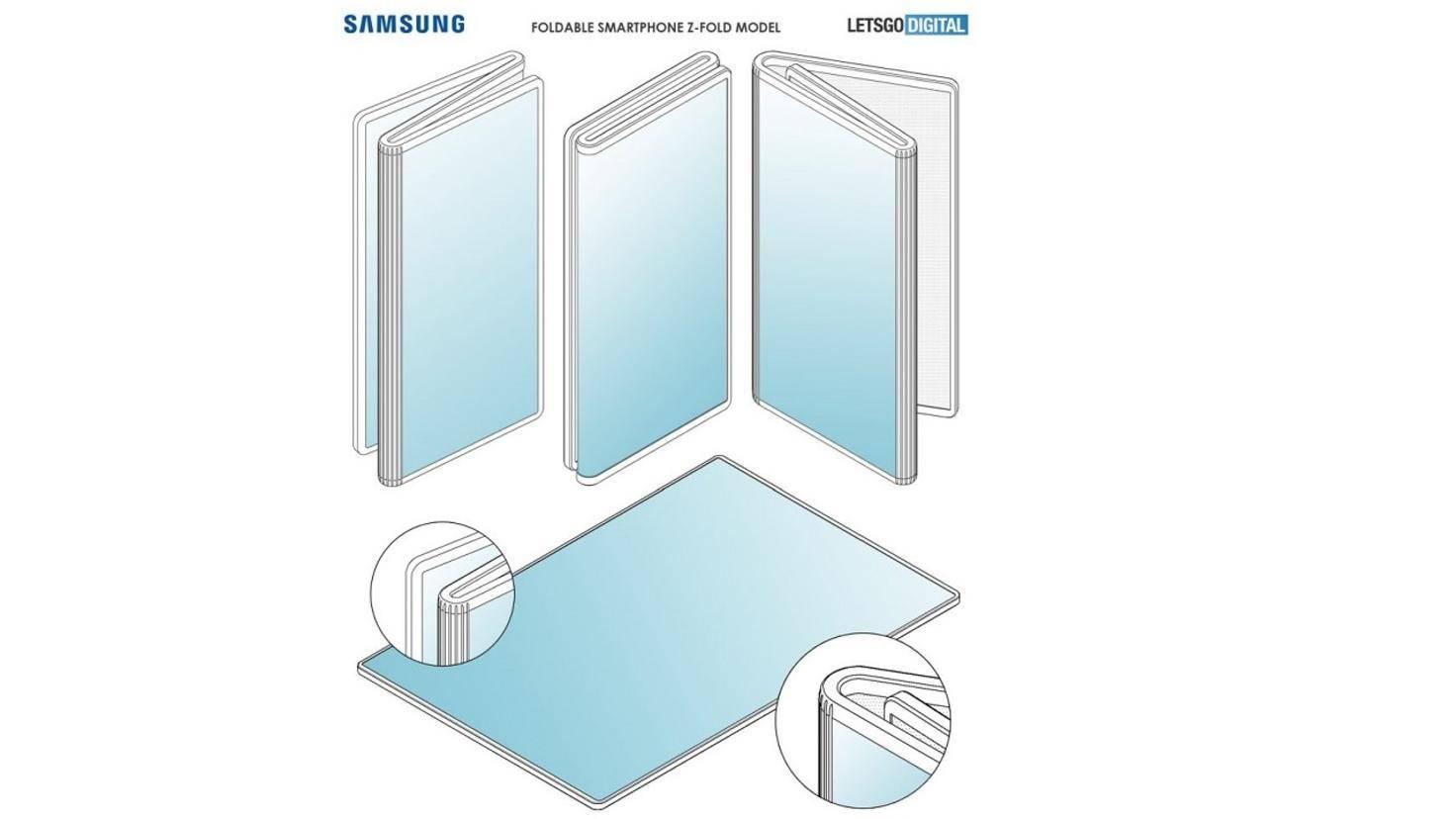 Samsung Patent für faltbares Smartphone