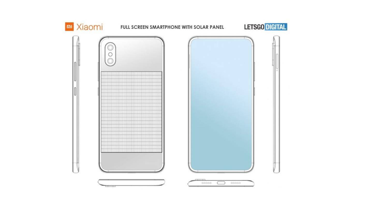Xiaomi-Smartphone mit Solarmodul