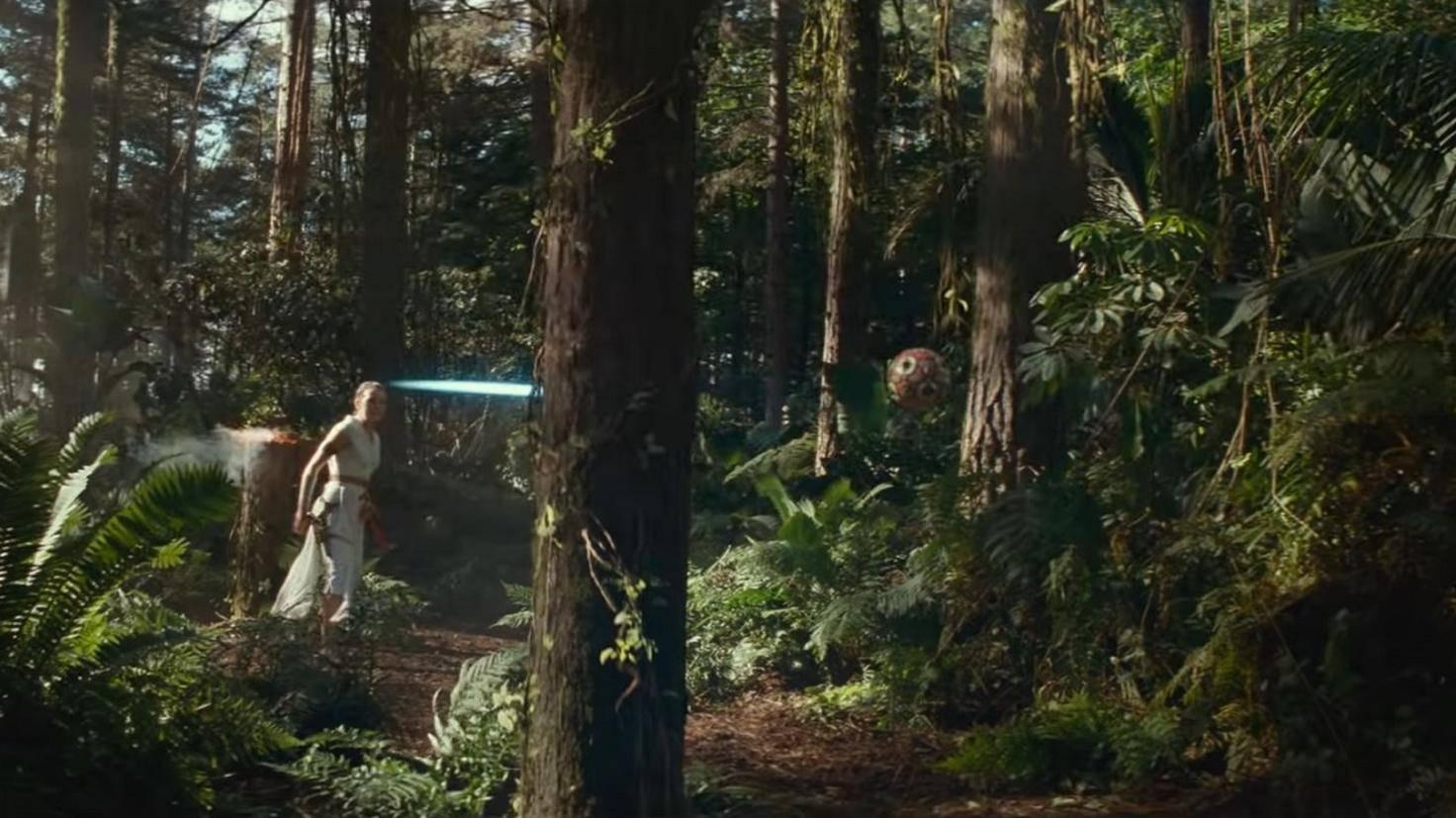 Rey trainiert in Luke Skywalkers Fußstapfen