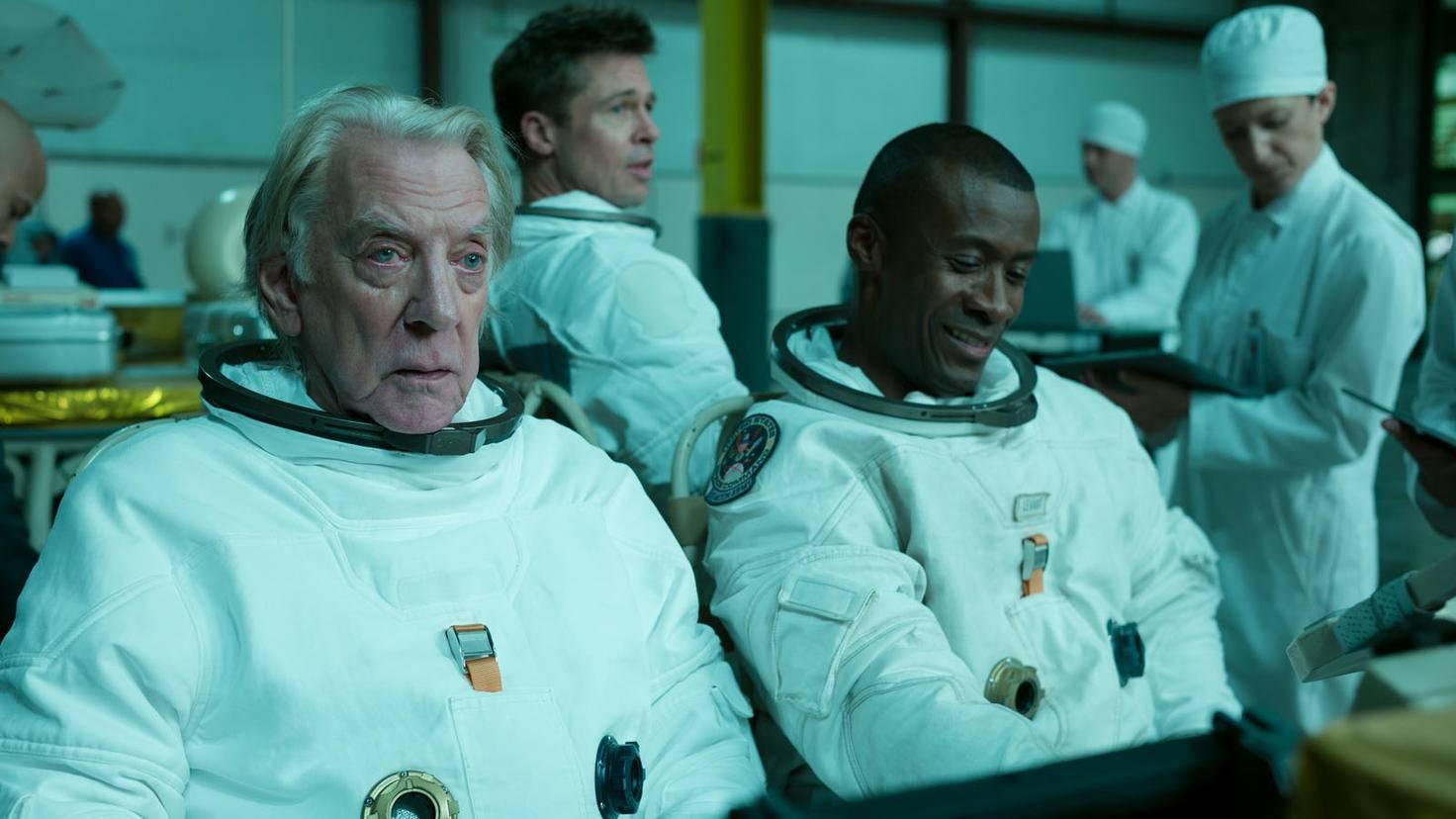 Ad Astra-Donald Sutherland-Brad Pitt-Sean Blakemore-Francois Duhamel-Twentieth Century Fox