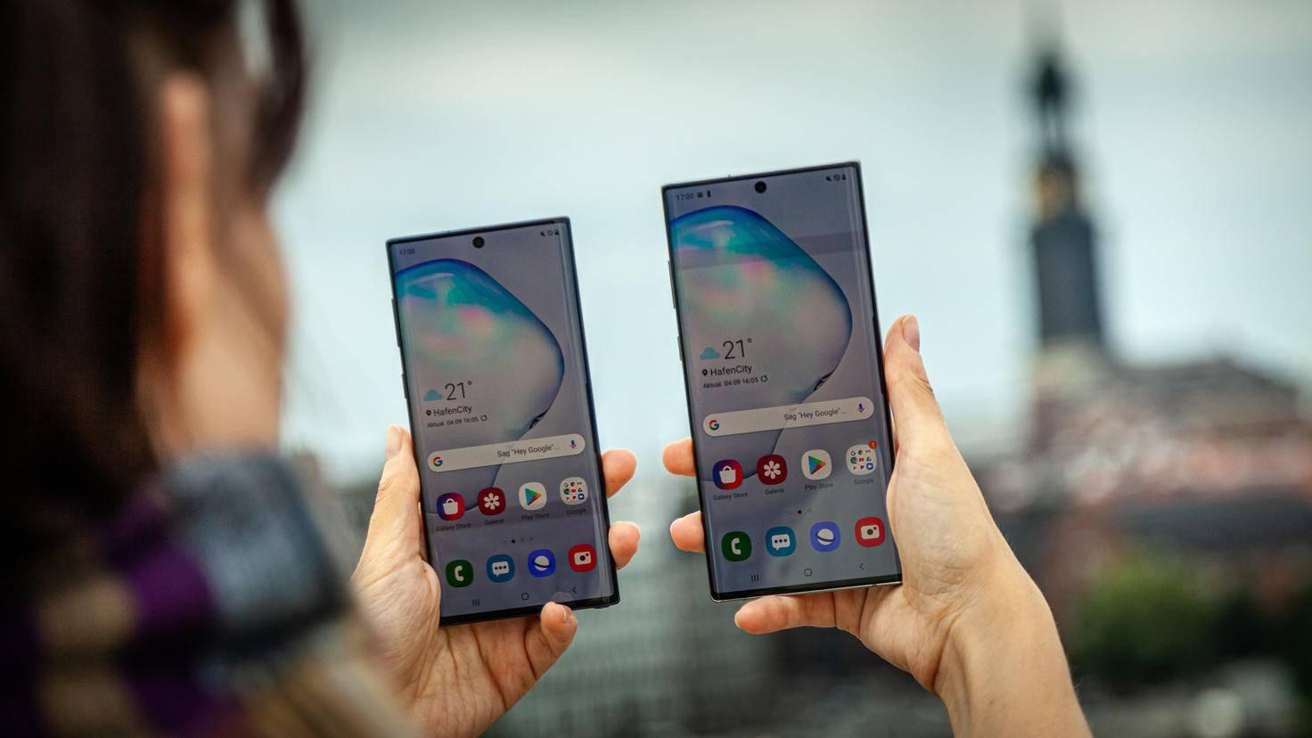 Galaxy Note 10 10 Plus Displayvergleich