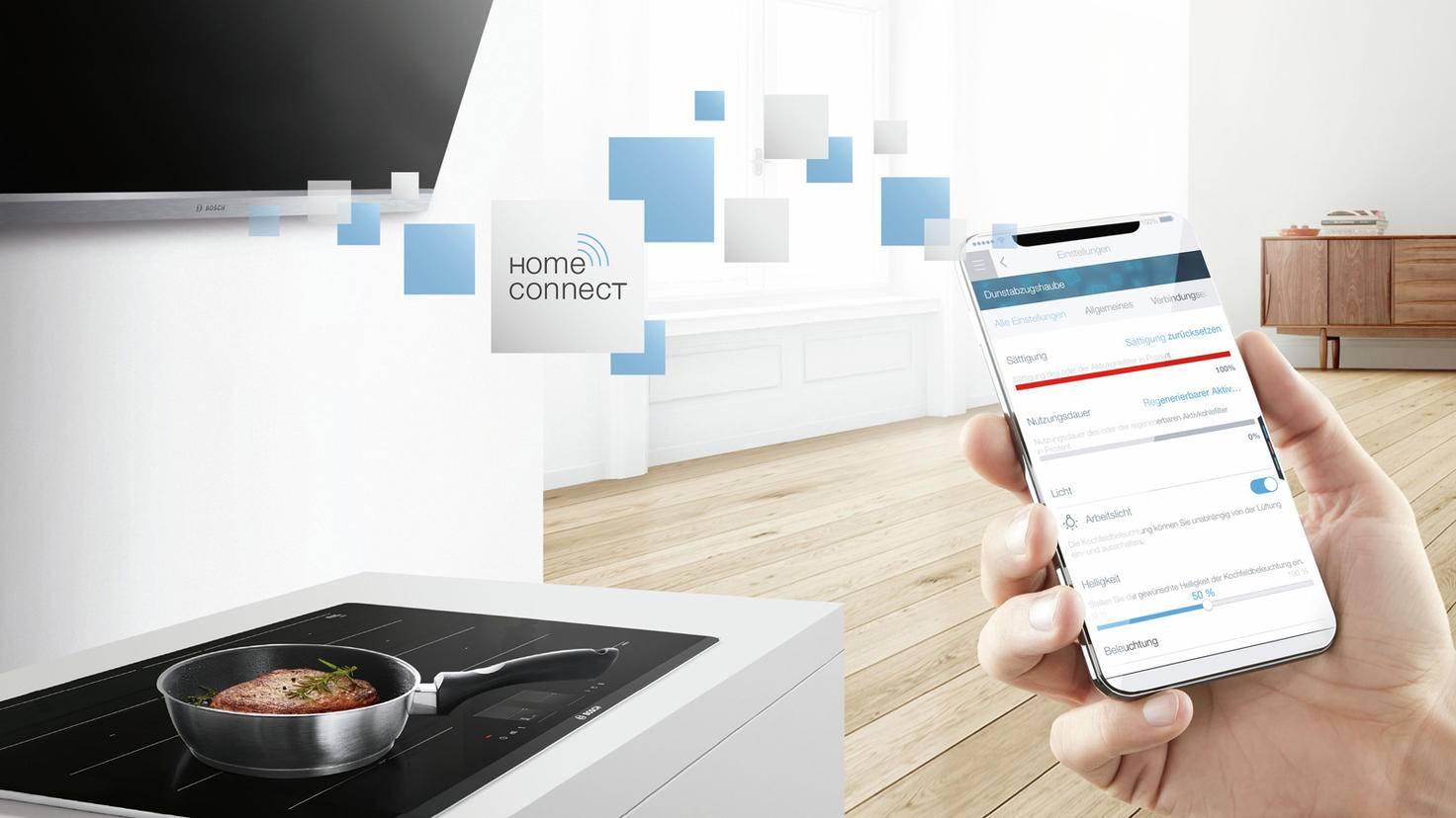 Home Connect Dunstabzugshaube und Kochfeld Bosch
