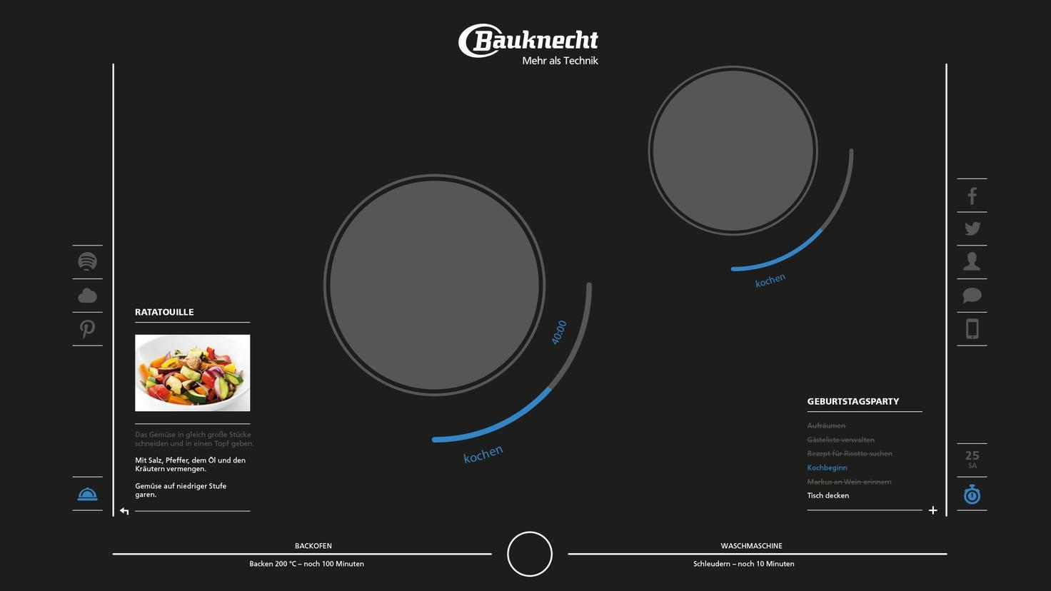 Smartes Kochfeld Bauknecht Interactive Cooktop