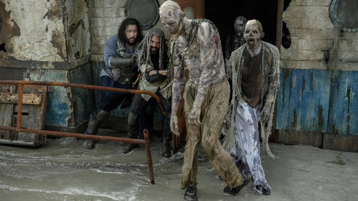 The Walking Dead-S10E01-Ezekiel-Jerry-Beißer-Gene Page-AMC