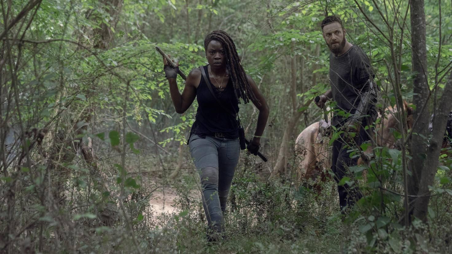 The Walking Dead-S10E01-Michonne-Aaron-Jackson Lee Davis-AMC