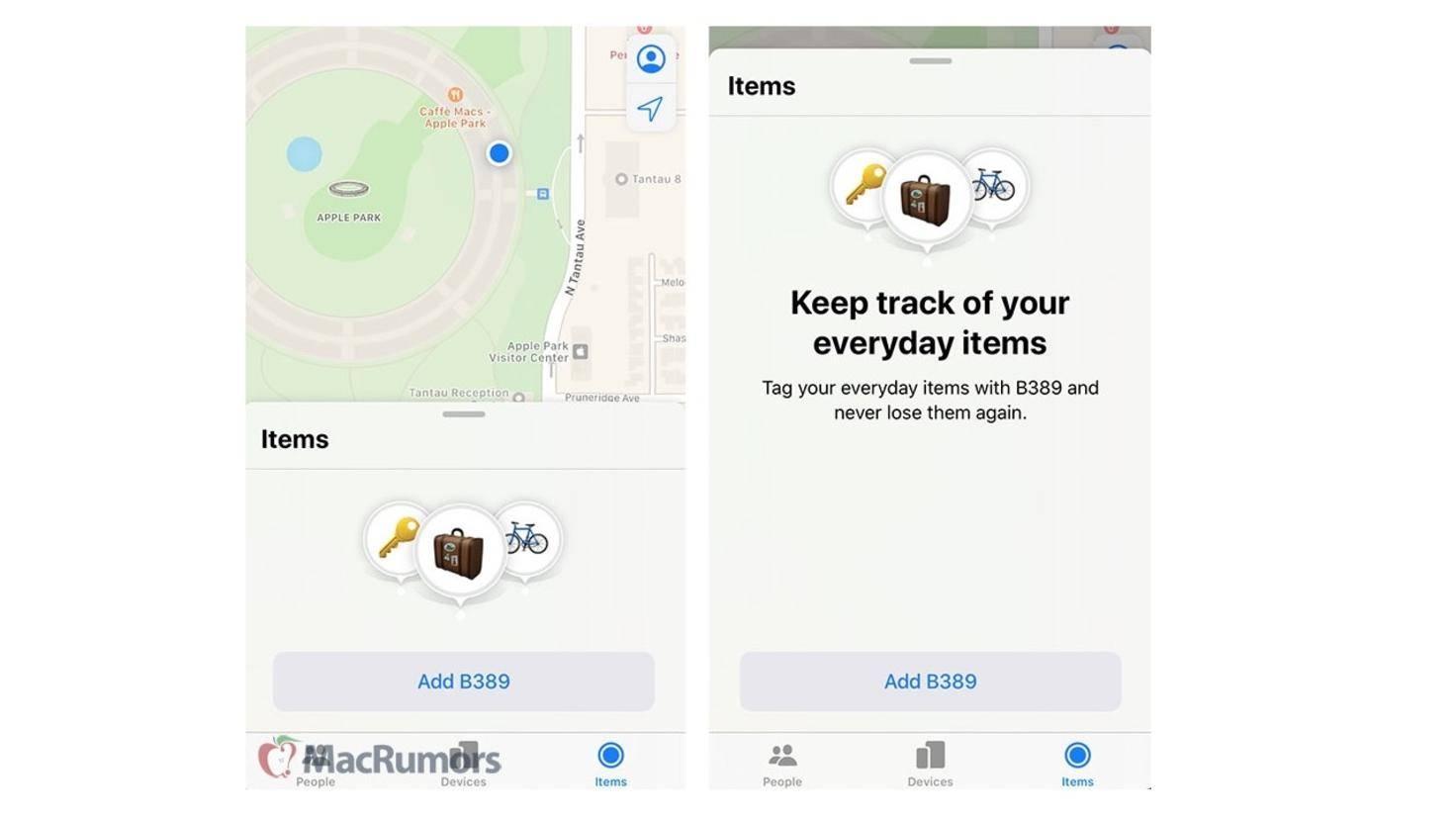 Find My Items iOS 13