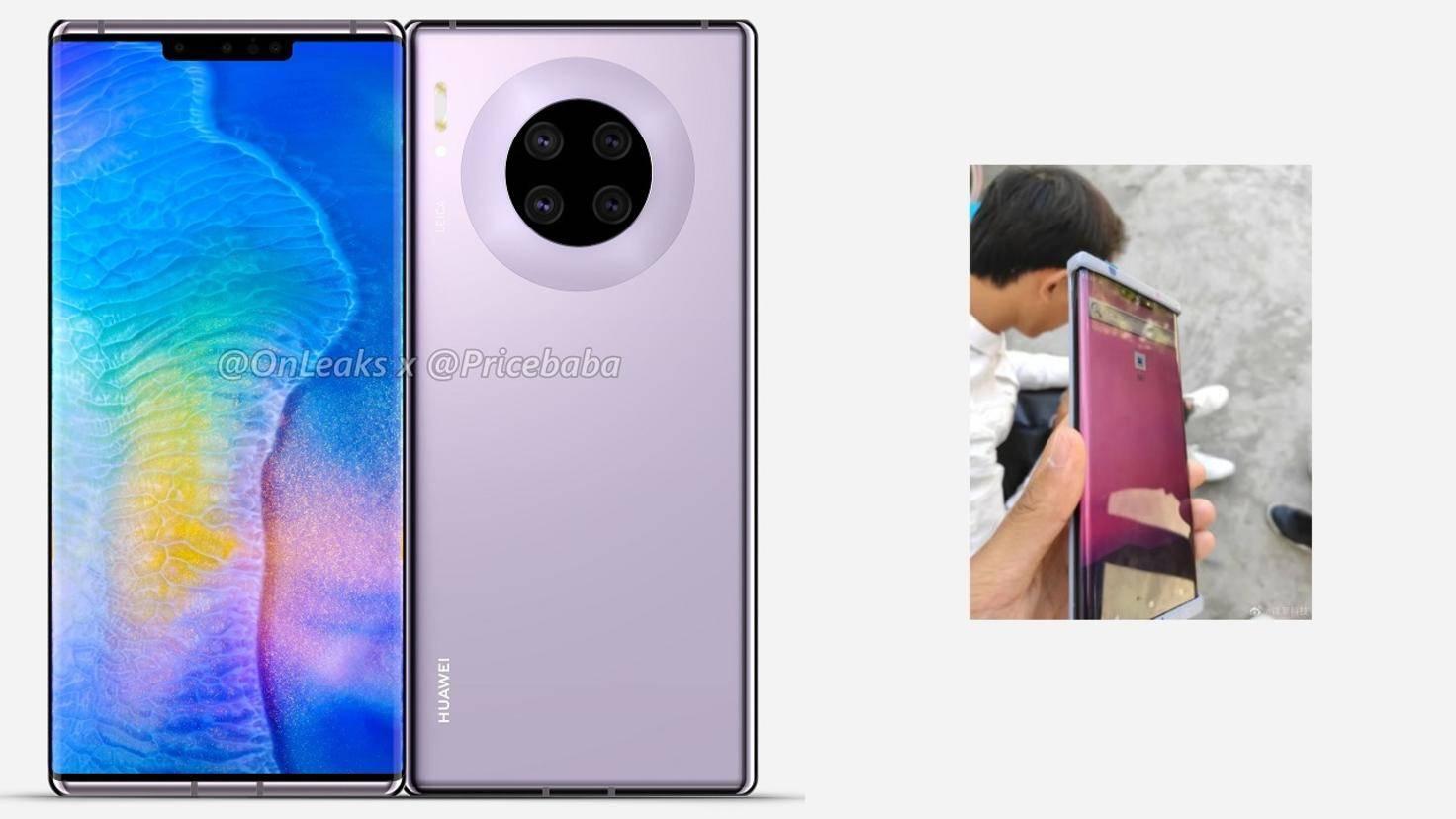 Huawei Mate 30 Pro Render und Foto