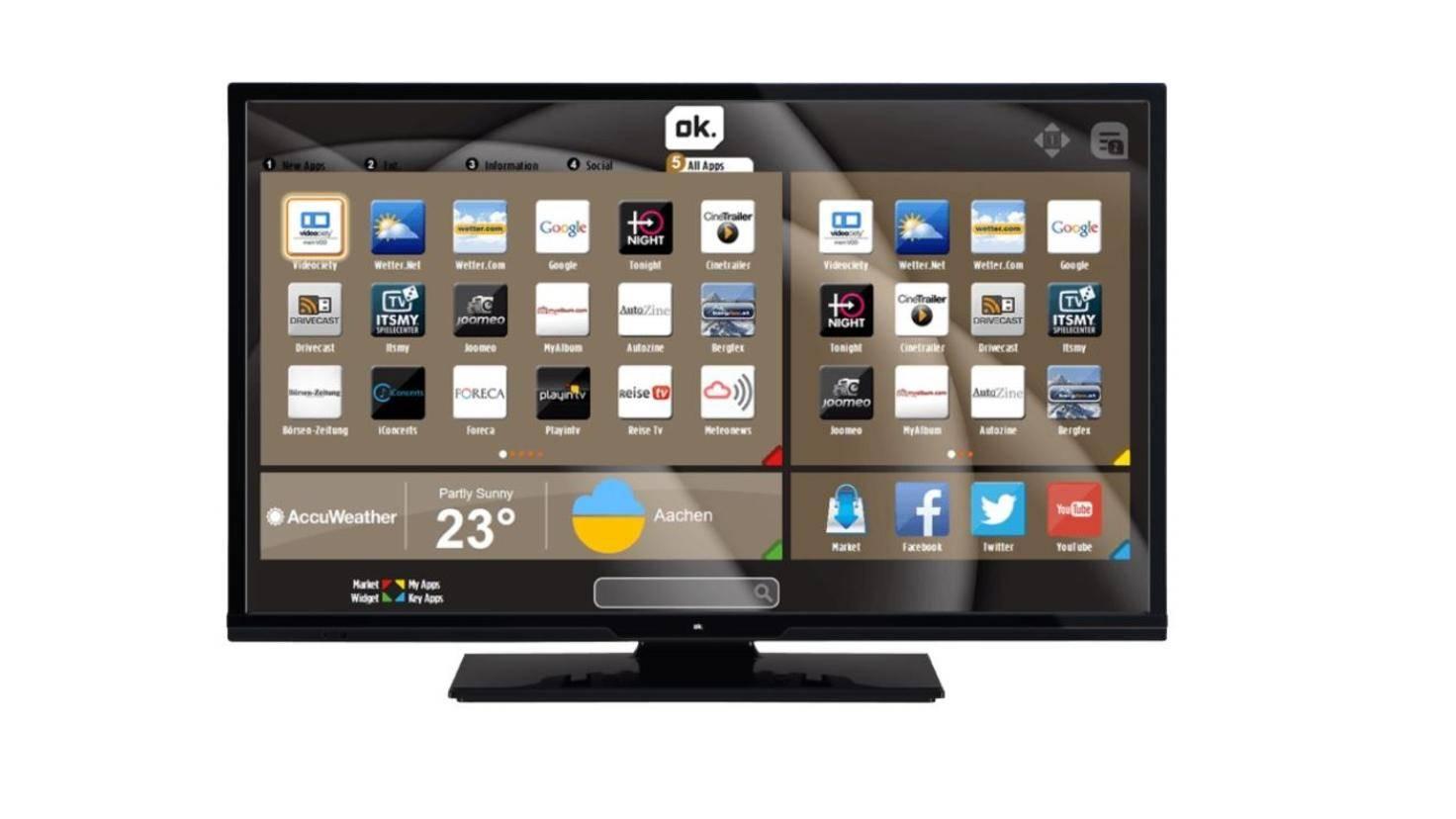 ok. Fernseher mit Smart-TV-Oberfläche