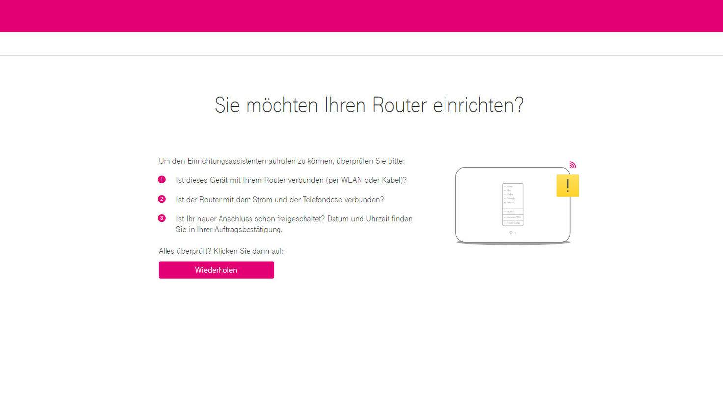telekom router einrichten so geht 39 s. Black Bedroom Furniture Sets. Home Design Ideas