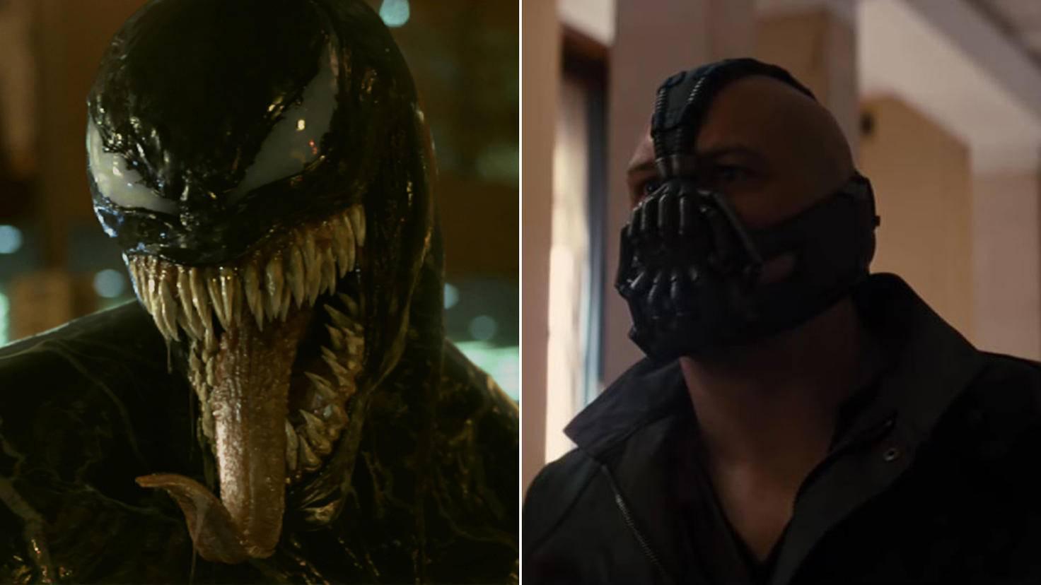Tom Hardy als Venom und Bane