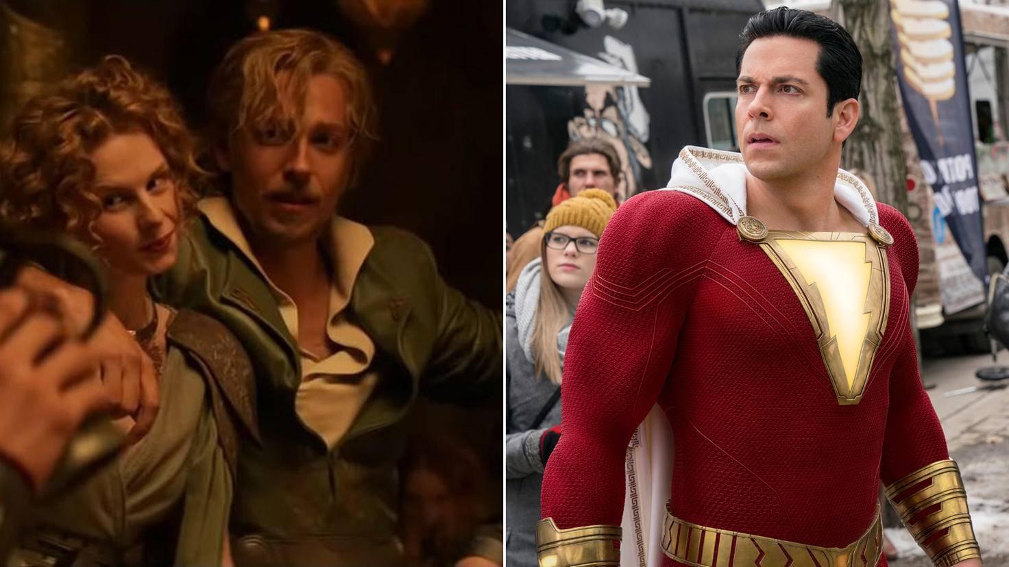 "Zachary Levi in ""Thor – The Dark Kingdom"" vs. Levi in ""Shazam!"""