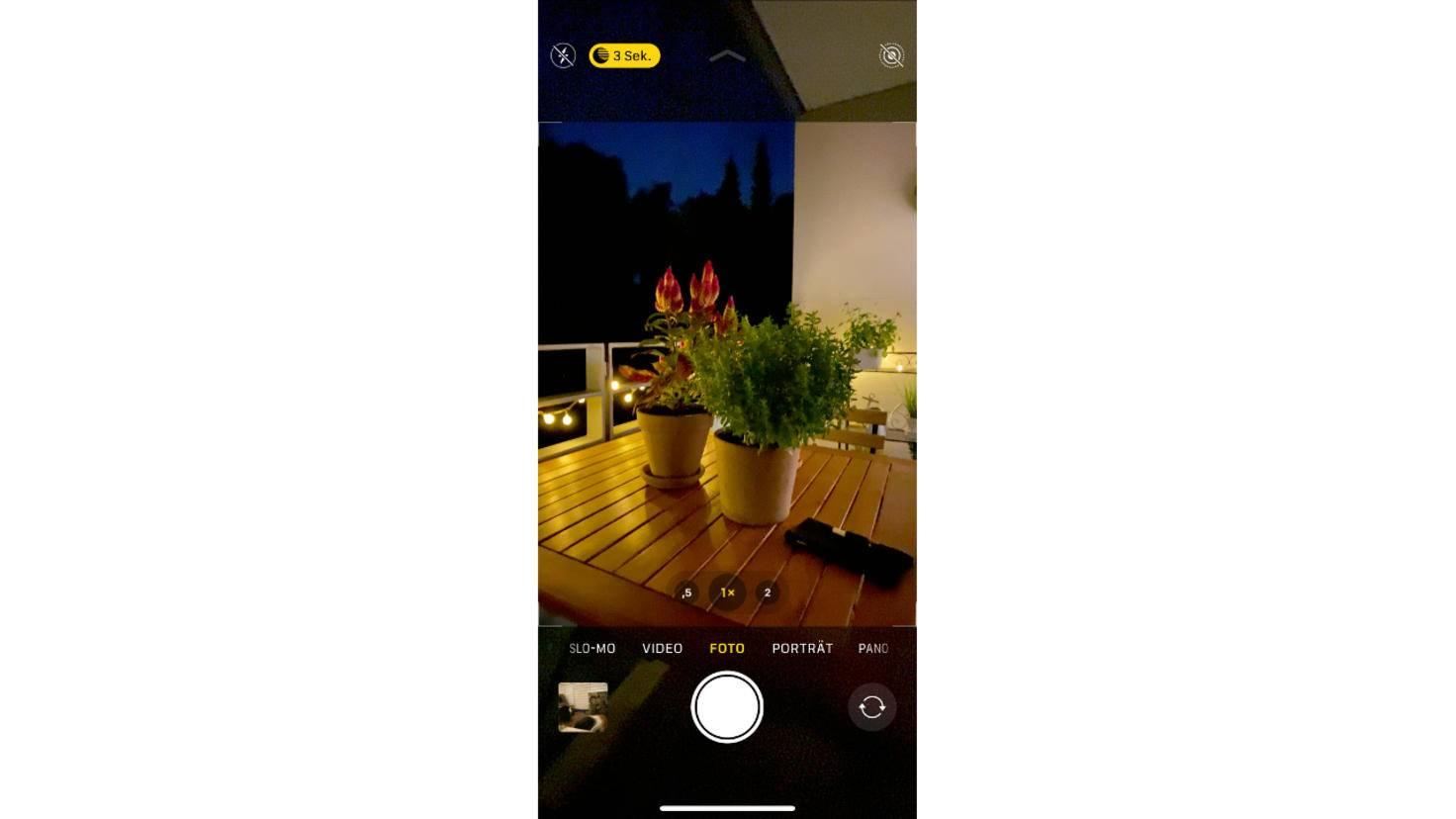 iPhone 11 Pro Nachtmodus