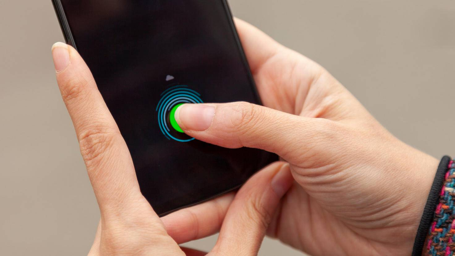 Motorola One Zoom Fingerabdrucksensor