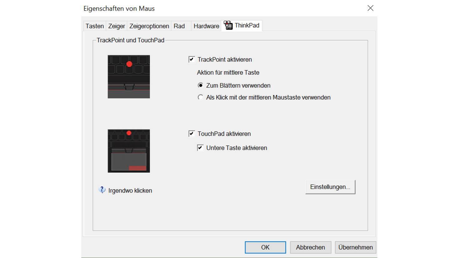 Touchpad aktivieren lenovo
