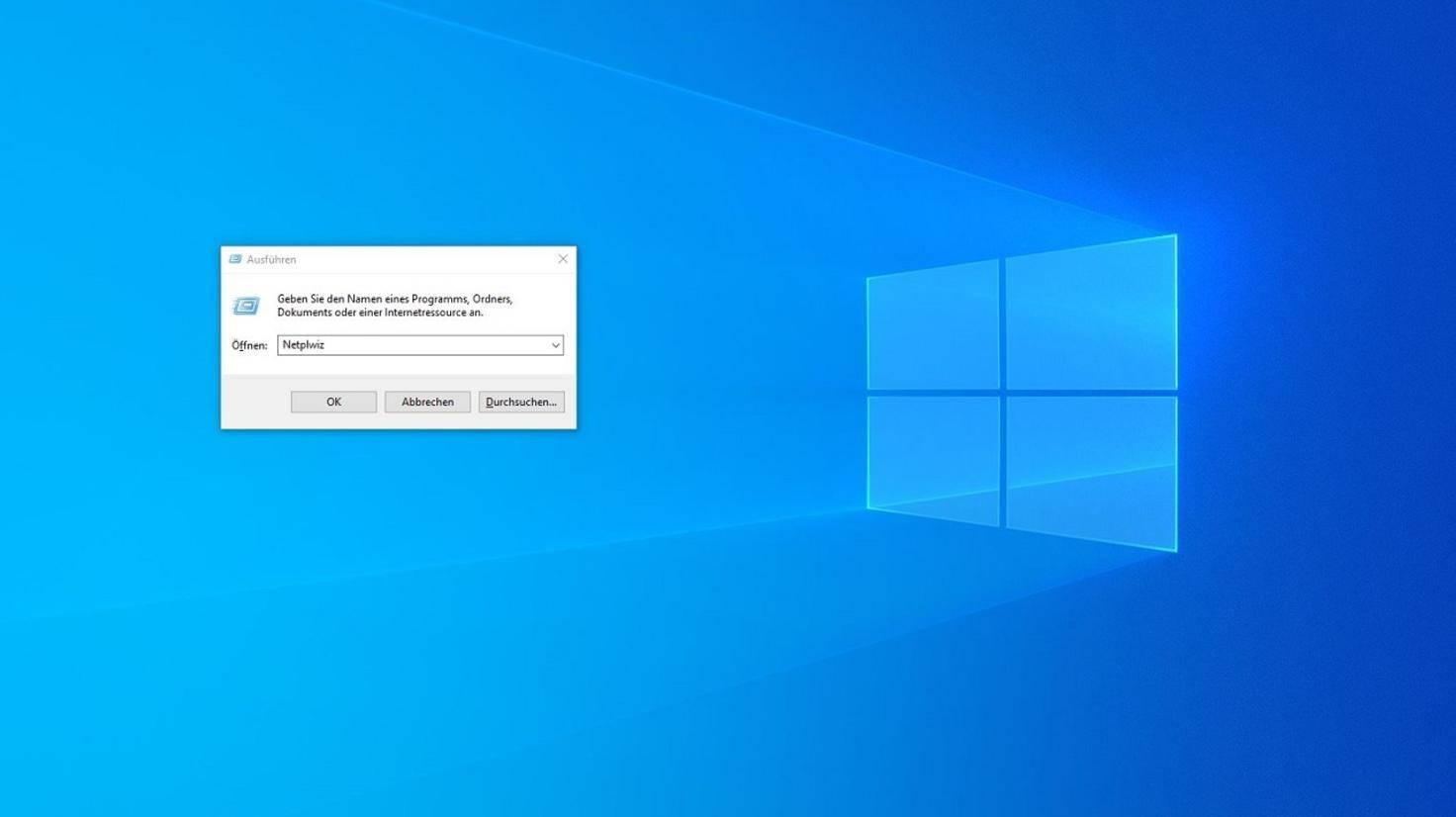 Windows 10 Ausführen Dialog