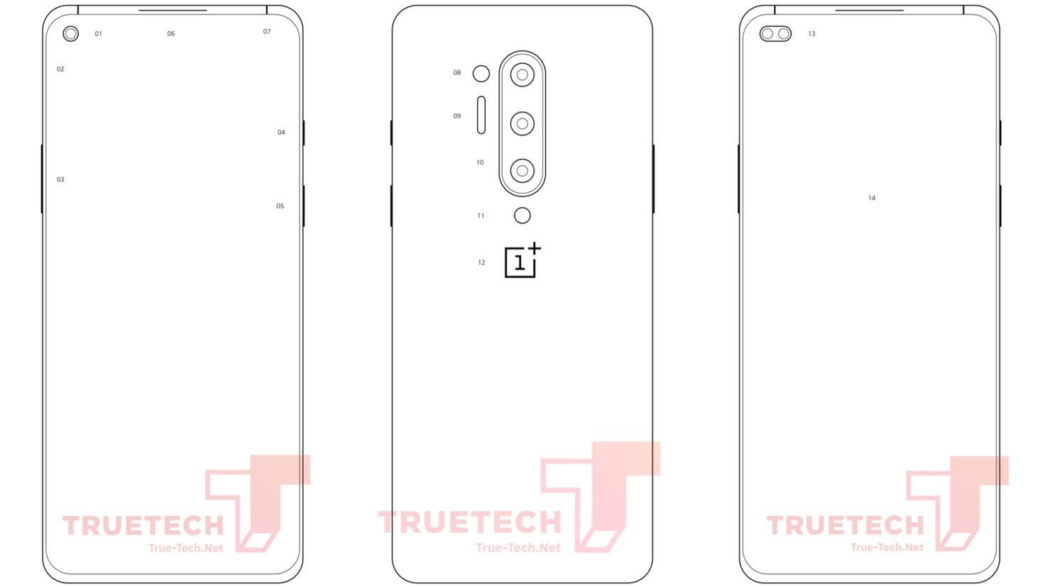 OnePlus-8-Pro-Produktskizze