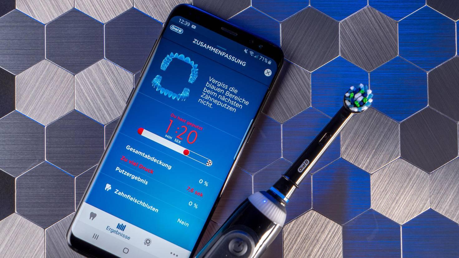 Oral-B Genius X 20000N Test App Putzergebnis Timer und Druck