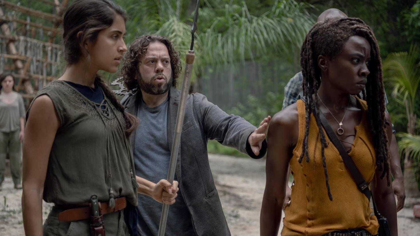 The Walking Dead-S10E08-Michonne-Luke-Rachel-Gene Page-AMC
