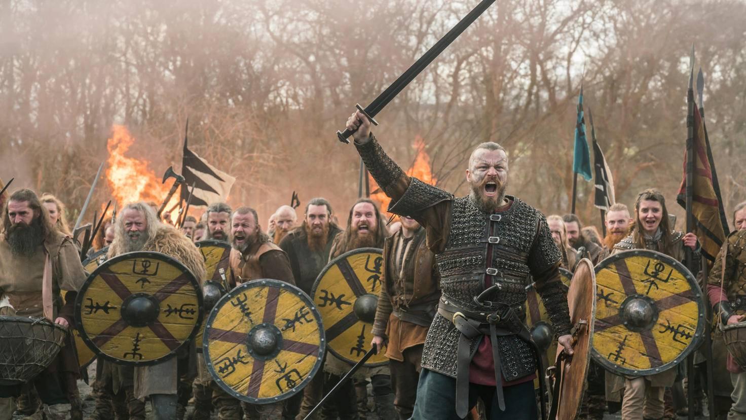 Vikings Harald Schoenhaar in der Schlacht