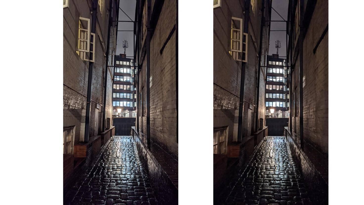 Pixel 4 Gasse Nachtmodus