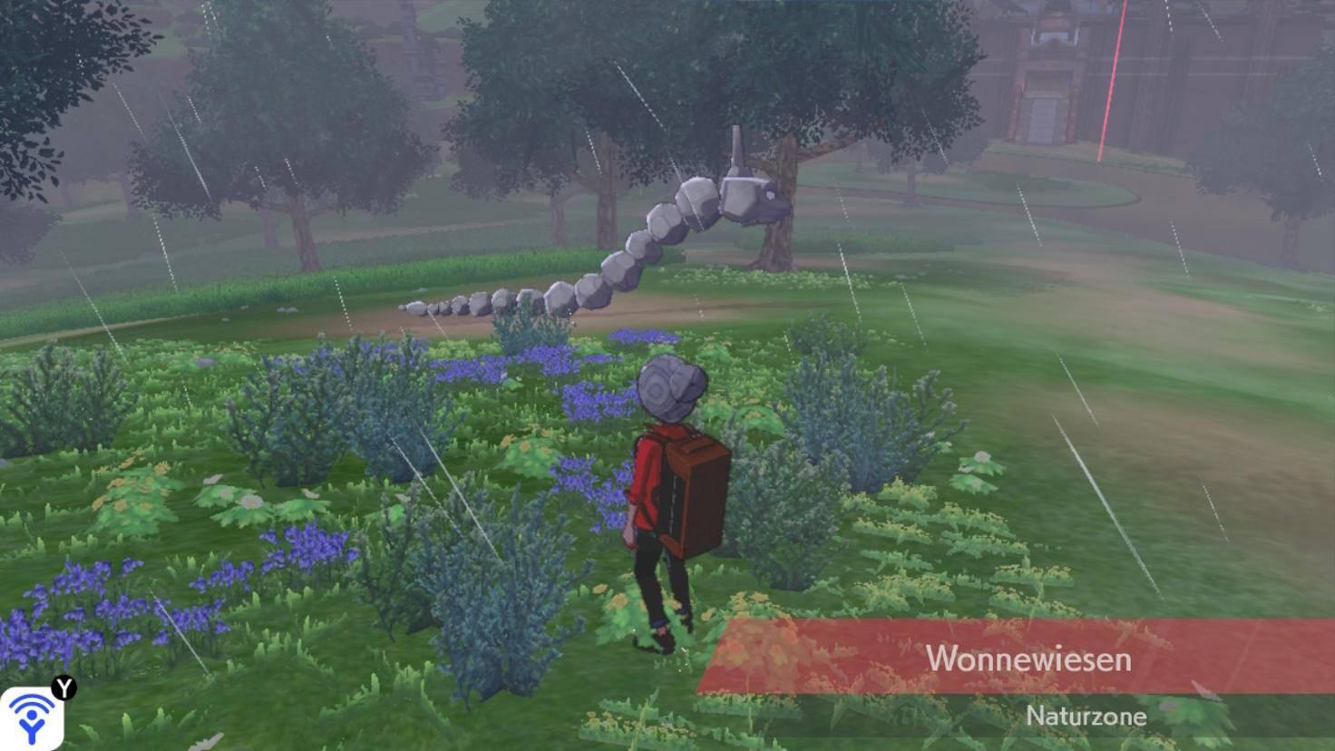 Auf dem Screenshot kommt's schlecht rüber, aber dieses Onix ploppt immer wieder ins Bild und dann wieder heraus.