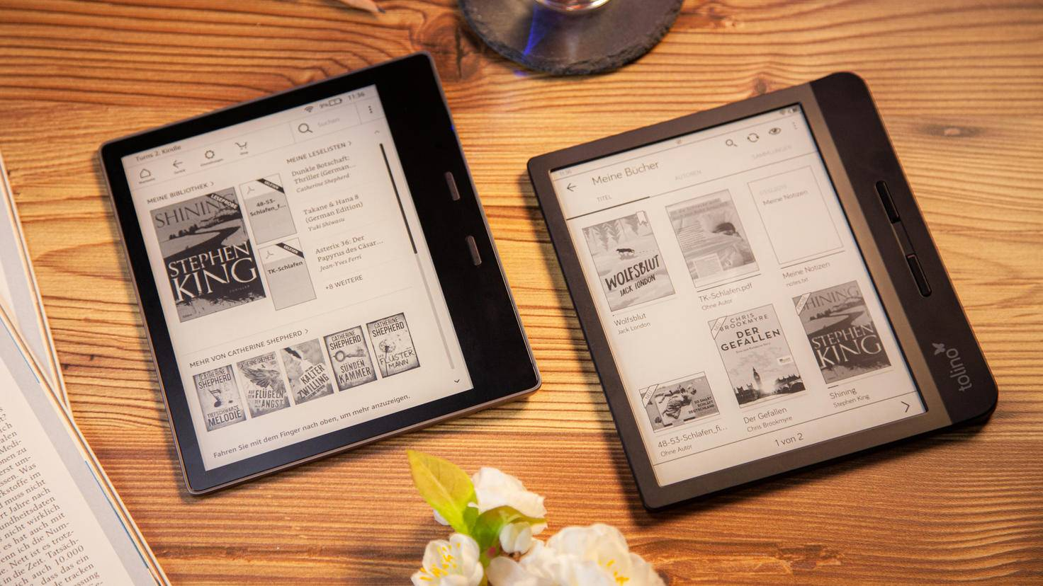 Kindle Oasis 2019 vs Tolino vision 5