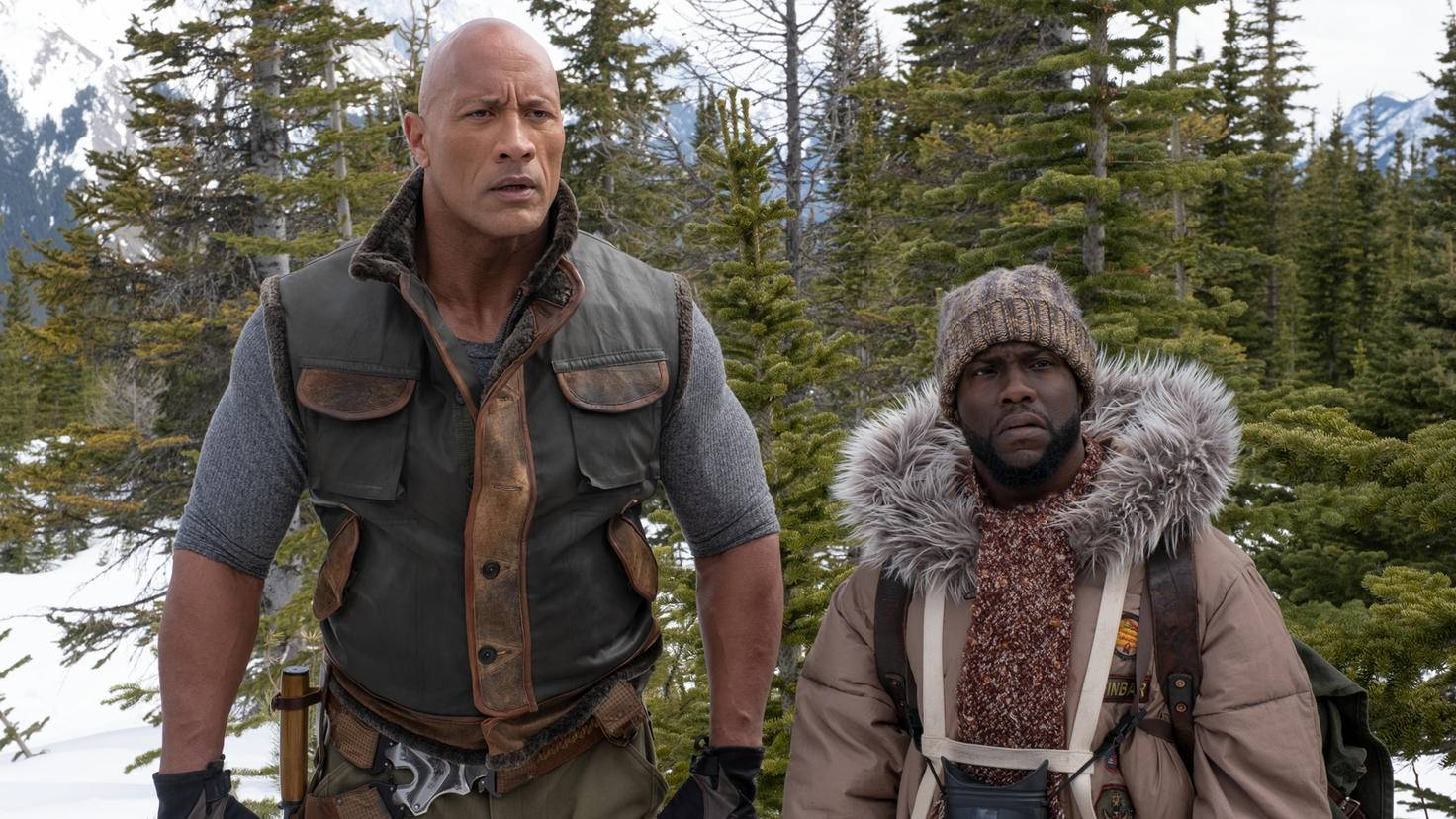 Dwayne Johnson und Kevin Hart in Jumanji The Next Level
