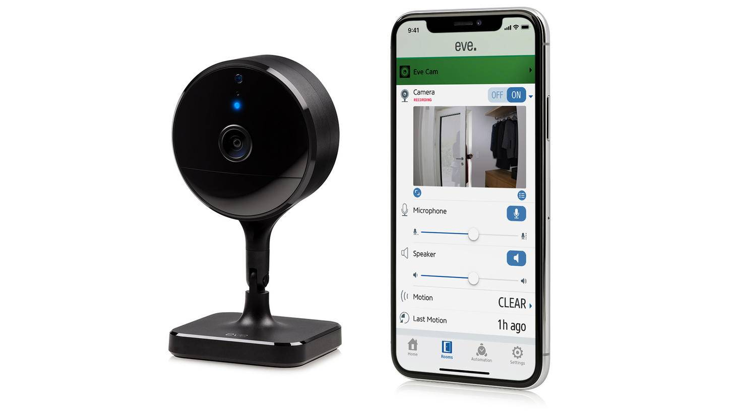 Eve Cam Ueberwachungskamera mit Smartphone App
