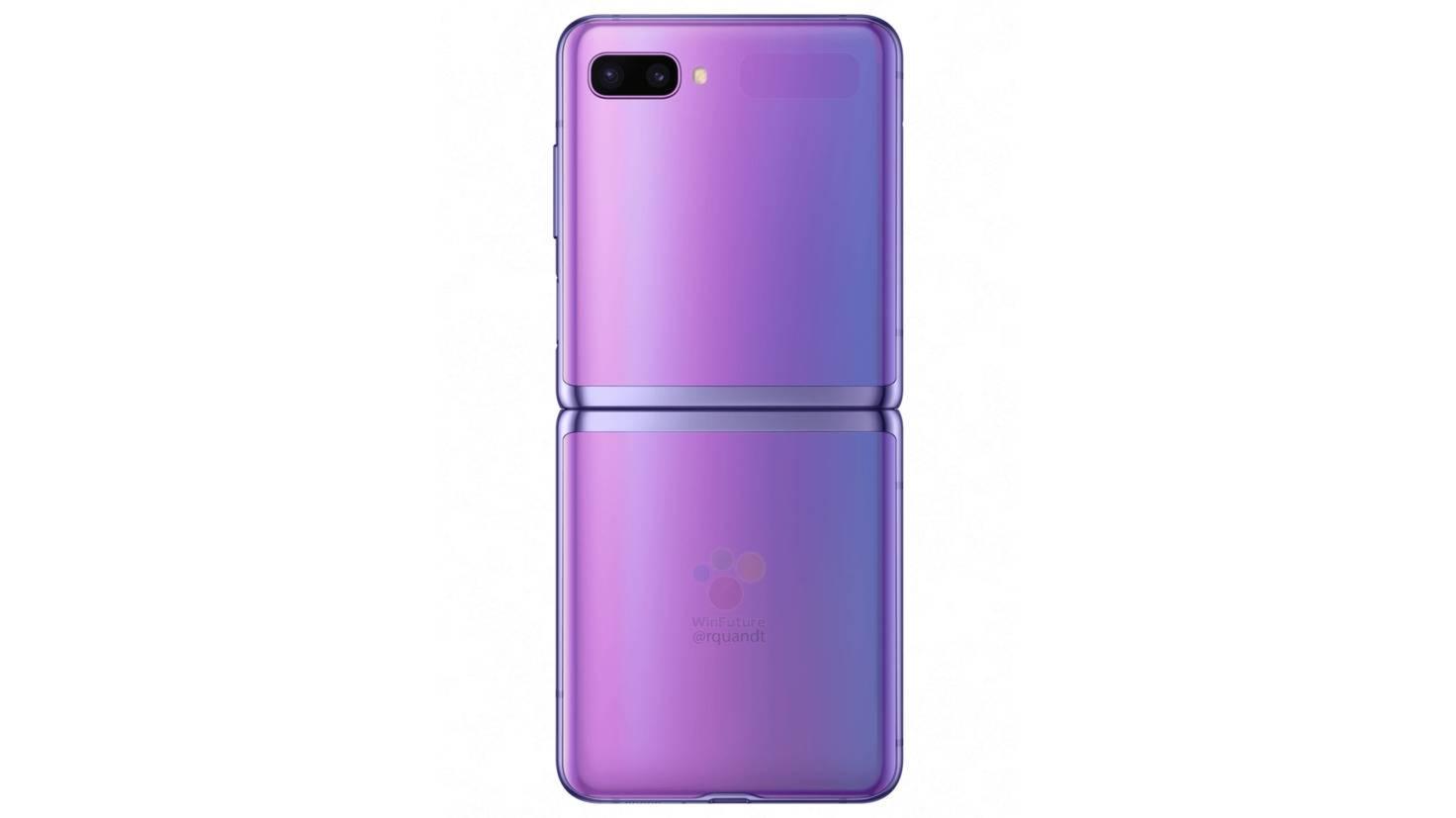 galaxy-z-flip-violett-rückseite