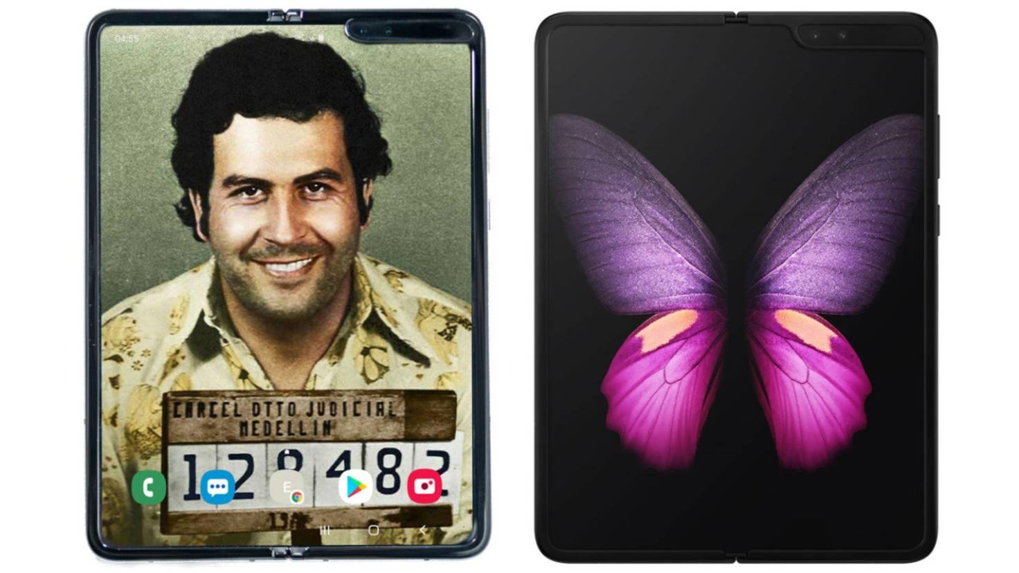 Escobar Fold 2 neben dem Samsung Galaxy Fold