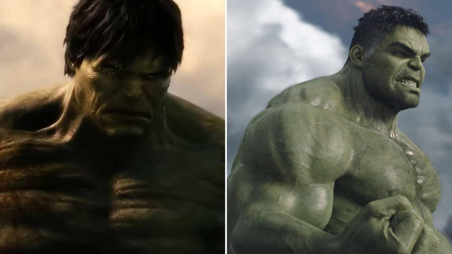 Hulk Edward Norton vs Mark Ruffalo