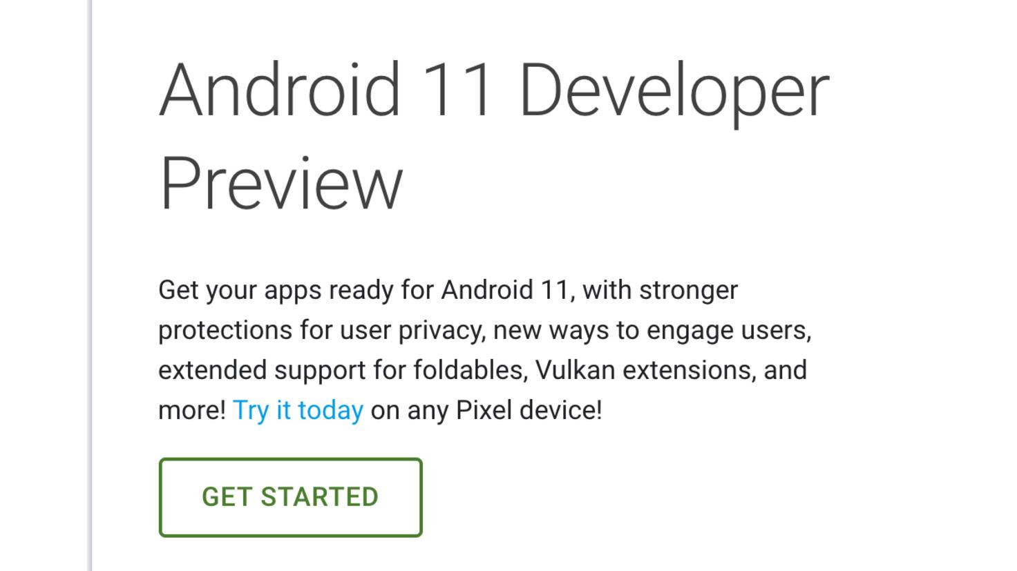 android-11-developer-preview-webseite