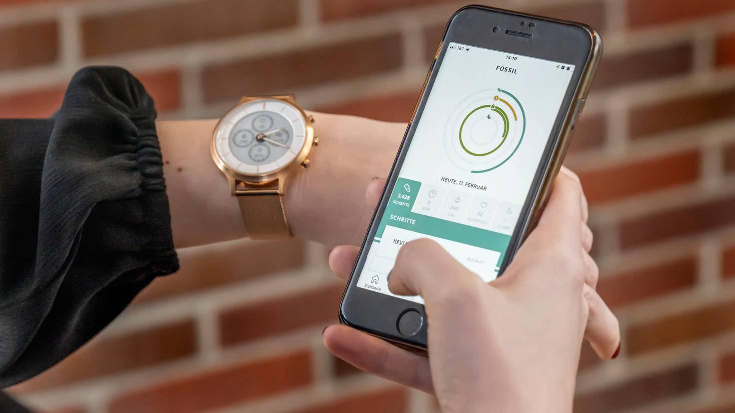 Fossil Hybrid HR mit App
