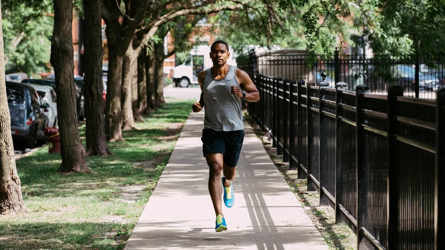 strava joggen mann weg