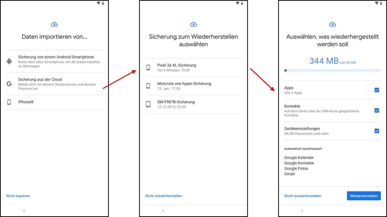 Android-Wiederherstellung-Cloud