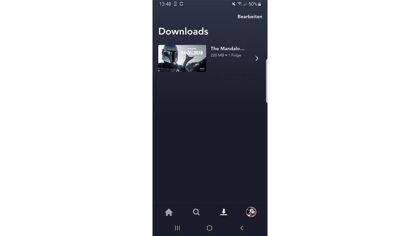 Disney+ Download Übersicht