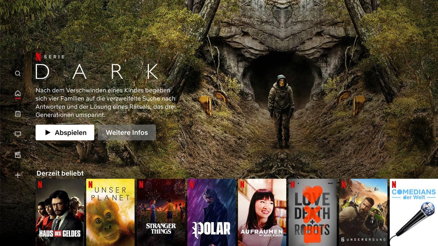 Netflix Homescreen