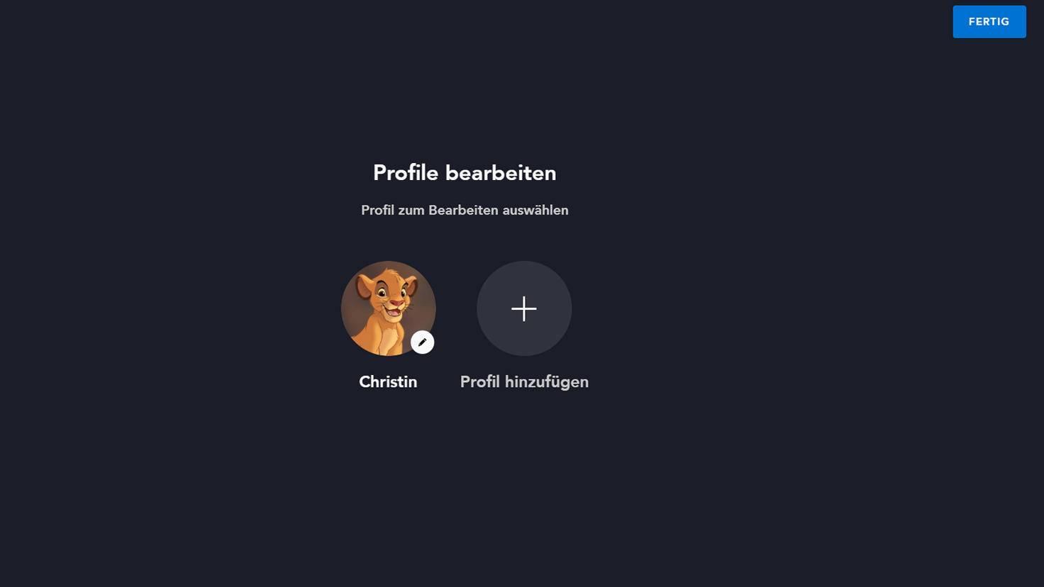 Profil bearbeiten