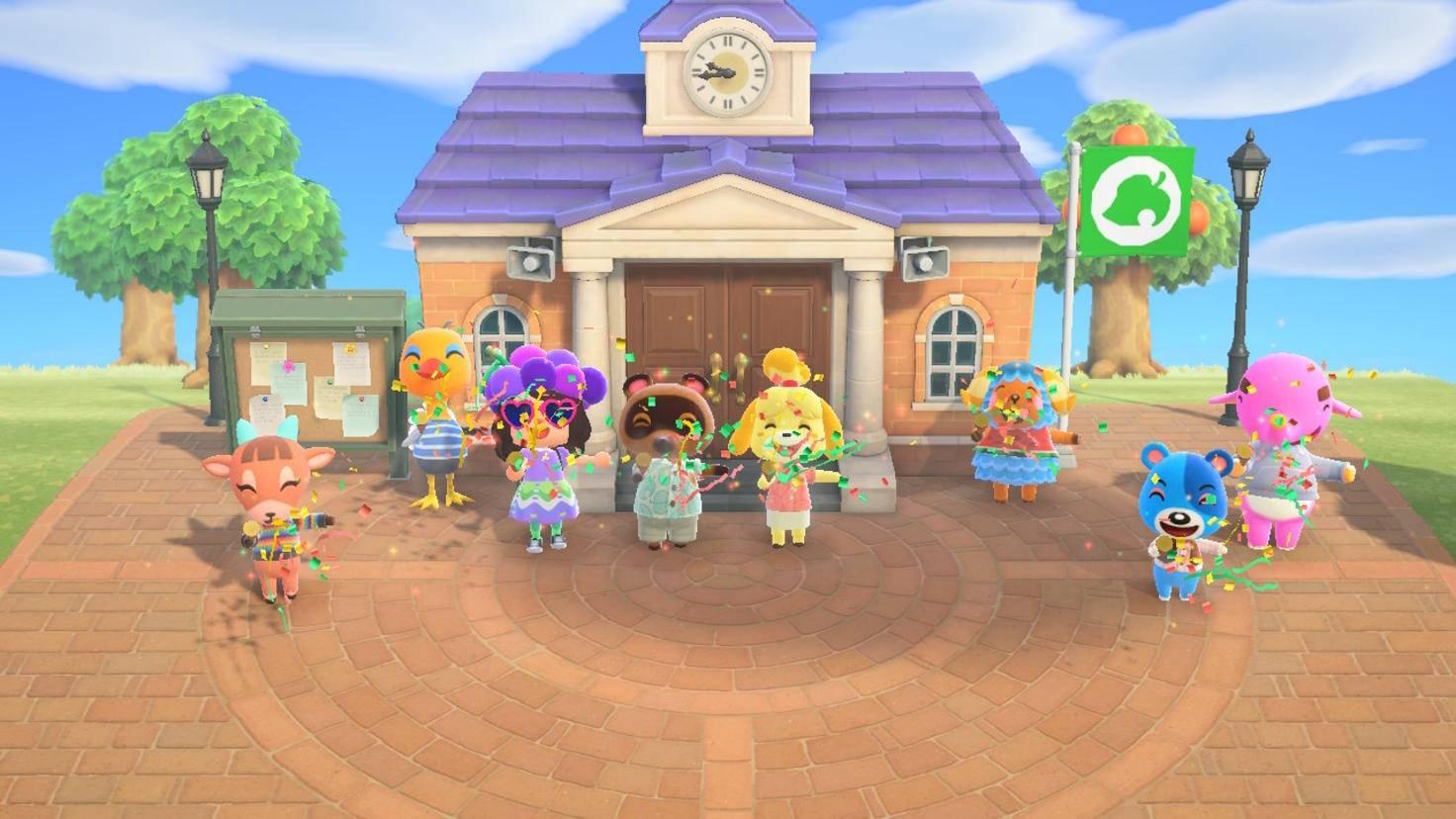 ACNH Party für das Rathaus